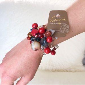 Jewelry - NWT Gemstone and Crystal Silver Bracelet